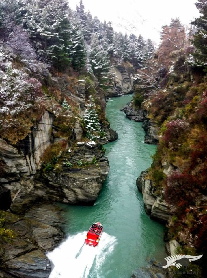 Places - Jet-Ski, Shotover River, Queenstown, New Zealand.  Adventure but quite frightening! Places I have been