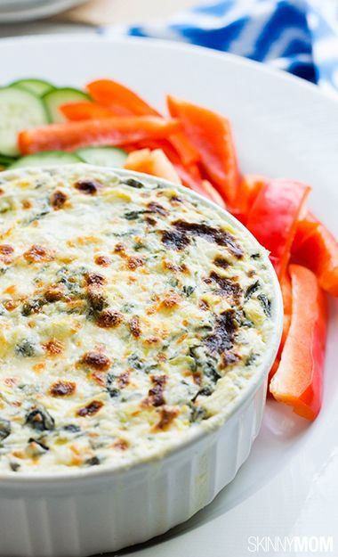 Try our skinny spinach and artichoke dip!