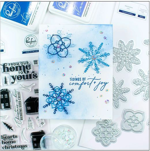 Layered Snowflakes Die Set - Pinkfresh Studio in 2020 | Snowflake shape,  Winter cards, Mini albums