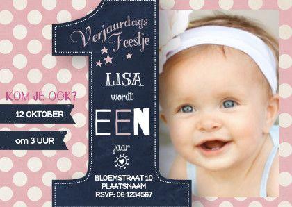 uitnodiging baby 1 jaar Uitnodiging Verjaardag Meisje 1 Jaar   ARCHIDEV uitnodiging baby 1 jaar