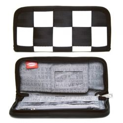 Harveys Ladies Clutch Wallet black and white chequered