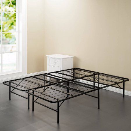 """Spa Sensations 10"""" High Profile Foldable Steel Smart Base Bed Frame with Under-bed Storage, Easy-No Tools Assembly, Multiple Sizes"""