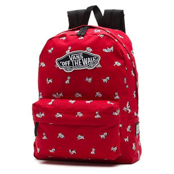 Disney Backpack ($42) ❤ liked on Polyvore featuring bags, backpacks, dalmatian red, heart shaped bag, rucksack bag, red bag, heart bag and red backpack