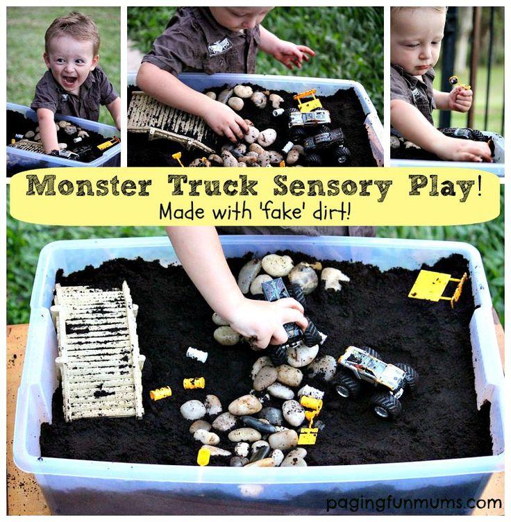 Monster Truck Sensory Play!