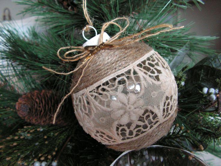 Handmade Christmas ornament .. $14.00, via Etsy.