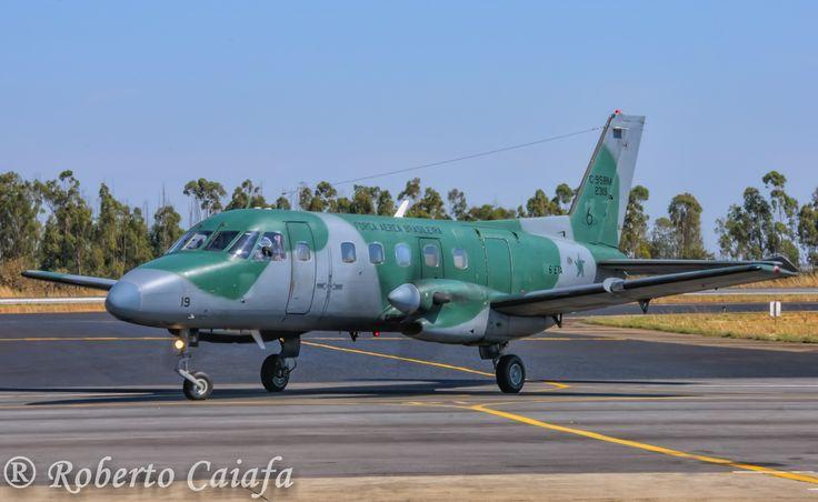 """O Embraer C-95BM Bandeirante FAB 2319, ou, para mim, """"El Super Bandeco"""" do 6º ETA de Brasília, DF, na Base Aérea de Anápolis - Foto: Roberto Valadares Caiafa — em Base Aerea De Anapolis"""
