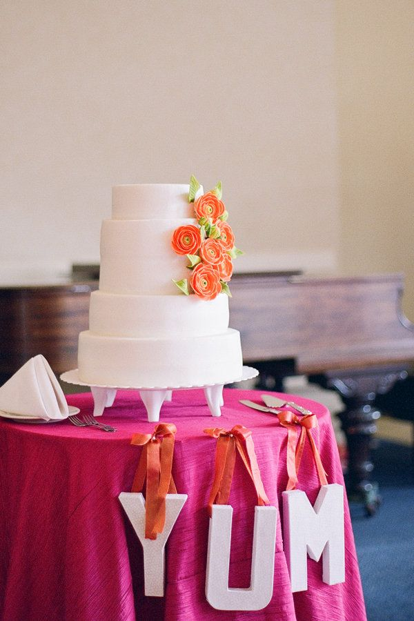 FlowersCake Influence, Orange Flower, Big Letters, Lynn Photography, Jennings Lynn, Flower Cakes, Auction Ideas, Cake Tables, Desserts Tables