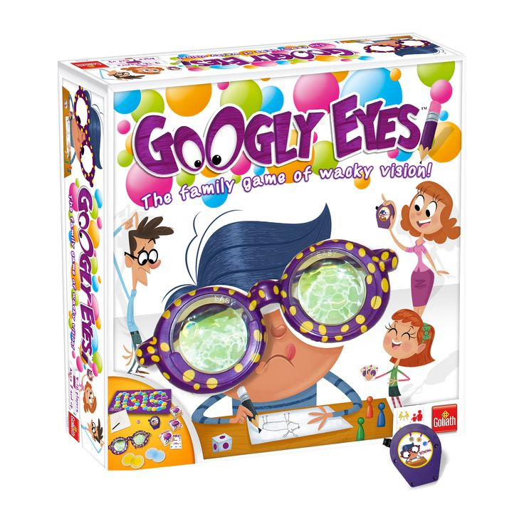 Googly Eyes is a hilarious family game that challenges your vision and leaves you goggling for more! Be the first to finish by winning the drawing challenges, all while wearing the zany, vision alteri