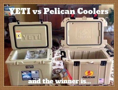 YETI coolers vs Pelican Coolers - which cooler is better?  http://yeticoolers.siterubix.com/yeti-vs-pelican-coolers