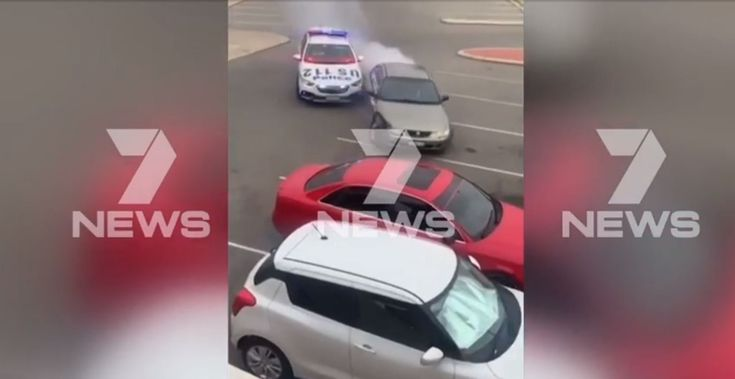 Epic police takedown after dangerous car pursuit turns into foot chase