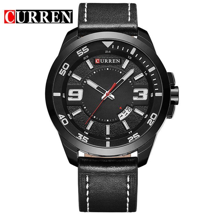 $23.62 (Buy here: https://alitems.com/g/1e8d114494ebda23ff8b16525dc3e8/?i=5&ulp=https%3A%2F%2Fwww.aliexpress.com%2Fitem%2FCurren-Men-s-Sports-Quartz-Watches-Men-Watches-Top-Brand-Luxury-Analog-Date-Leather-Wristwatches-Waterproof%2F32706471415.html ) Curren Men's Sports Quartz Watches Men Watches Top Brand Luxury Analog Date Leather Wristwatches Waterproof Relogio Masculino for just $23.62
