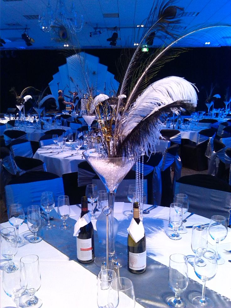 1920's Great Gatsby inspired centerpiece | Prom ...