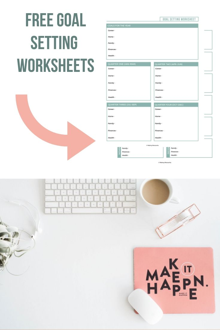 Grab this goal setting worksheet to crush your goals this ...