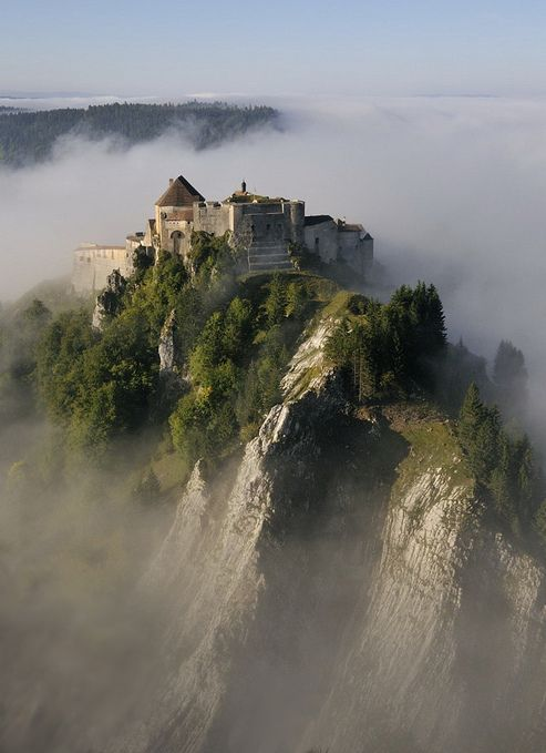 Château de Joux is a castle, transformed into a fort, in the Jura mountains of France