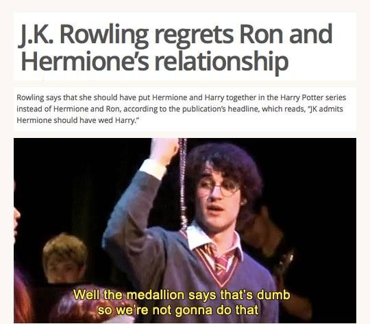 ron and hermione hook up fanfiction Harry potter should not have ended up with hermione the main reason hermione is obviously destined to end up with ron is that hermione's and ron.