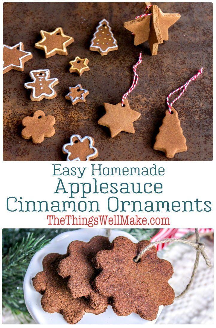 Homemade Applesauce Cinnamon Ornaments Cinnamon Ornaments Homemade Applesauce Food Ornaments