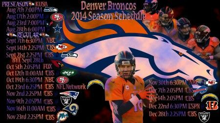 #Denver #2014 #Broncos #schedule