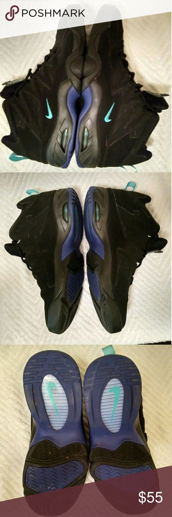 Nike Sportswear Men's Air Flare Basketball Shoe In very good preowned condition. Plenty of life left.?  Mid top men's sneaker?? Lace up closure?? Nubuck suede?? Contrasting NIKE swoosh detail?? Air bubble sole for ultimate comfort?? Slit cutouts for ventilation Nike Shoes