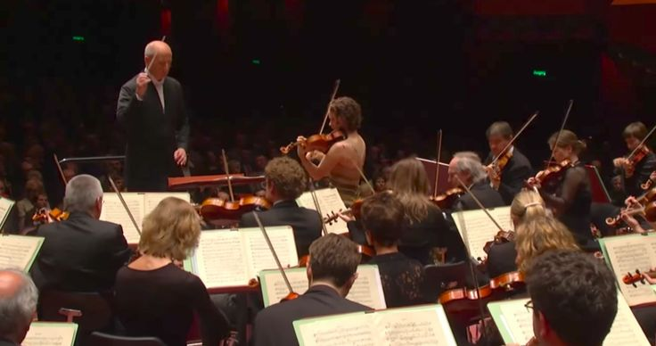 Hilary Hahn as the Soloist in Brahms' Violin Concerto.