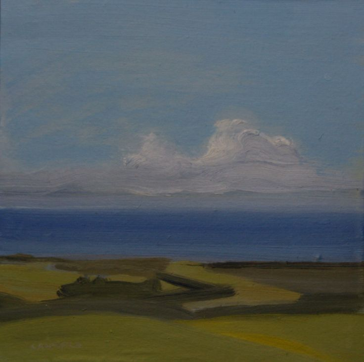 Above Byron. Oil on calico on board. 290mm x 290mm.