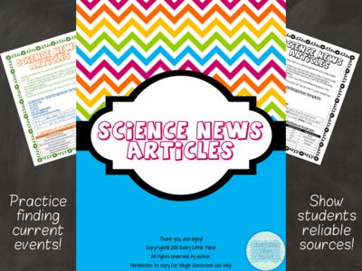 6th grade science news articles