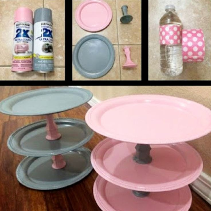 Idea For My Coffee Bar Coffee Area Make A Diy 3 Tier Serving Tray Like This To Put My K Diy Baby Shower Centerpieces Baby Shower Diy Baby Shower Decorations