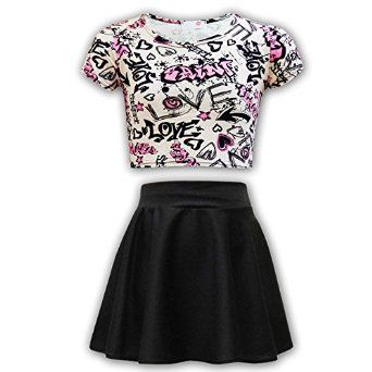 girls clothing 12-13 years | ... Skater Skirt Set Age 7 8 9 10 11 12 13 Years: Amazon.co.uk: Clothing
