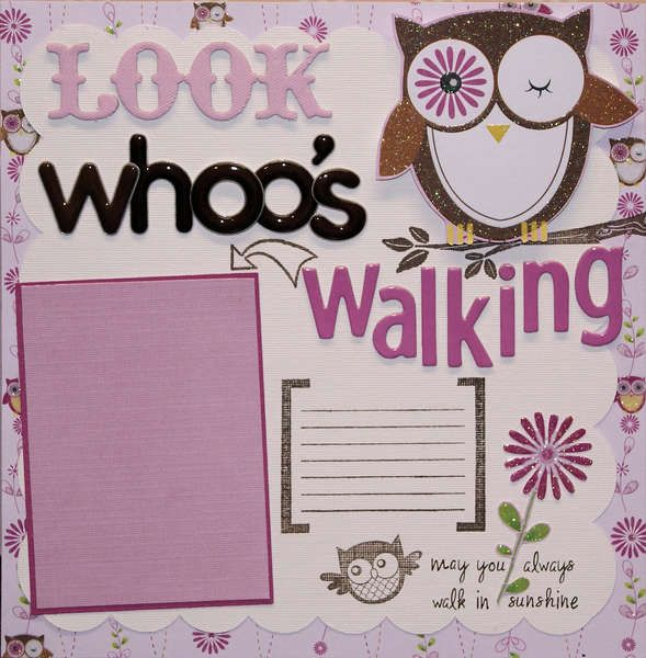 """""""Look whoo's Walking"""". What a great idea and I love the glittery owl!"""