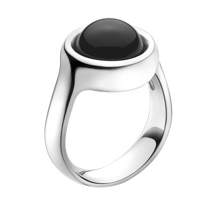 SPHERE ring - sterling silver with agate