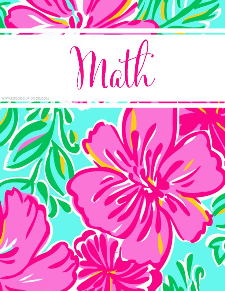 FREE College Class Printables : Lilly Inspired Personalized Binder Covers   Decor 2 Ur Door