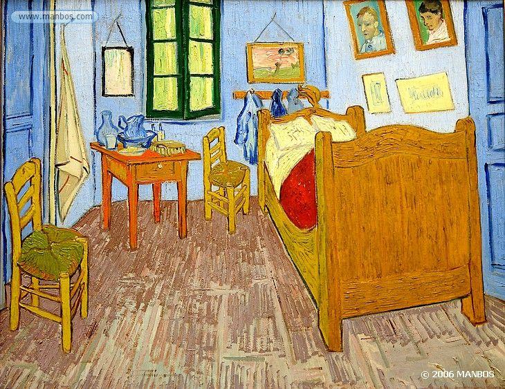 La chambre de Van Gogh a Arles  Vicent Van Gogh - 1889  Museo de Orsay, Paris