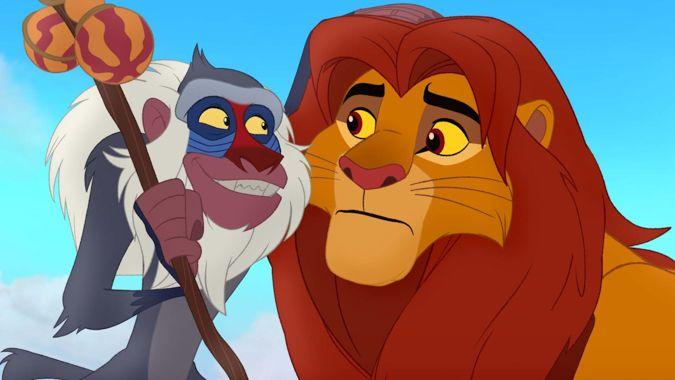 simba and rafiki from  u0026quot the lion guard u0026quot