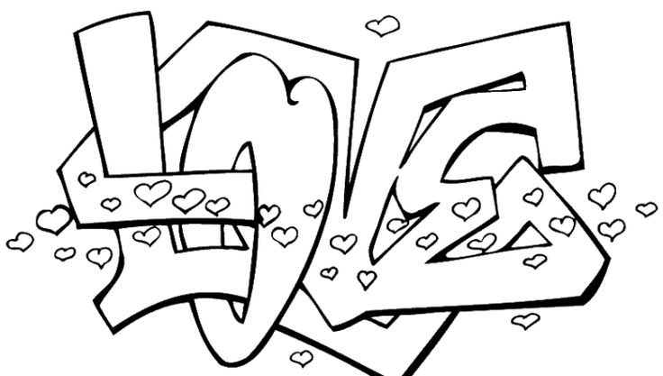 I love you coloring pages for teenagers printable 01