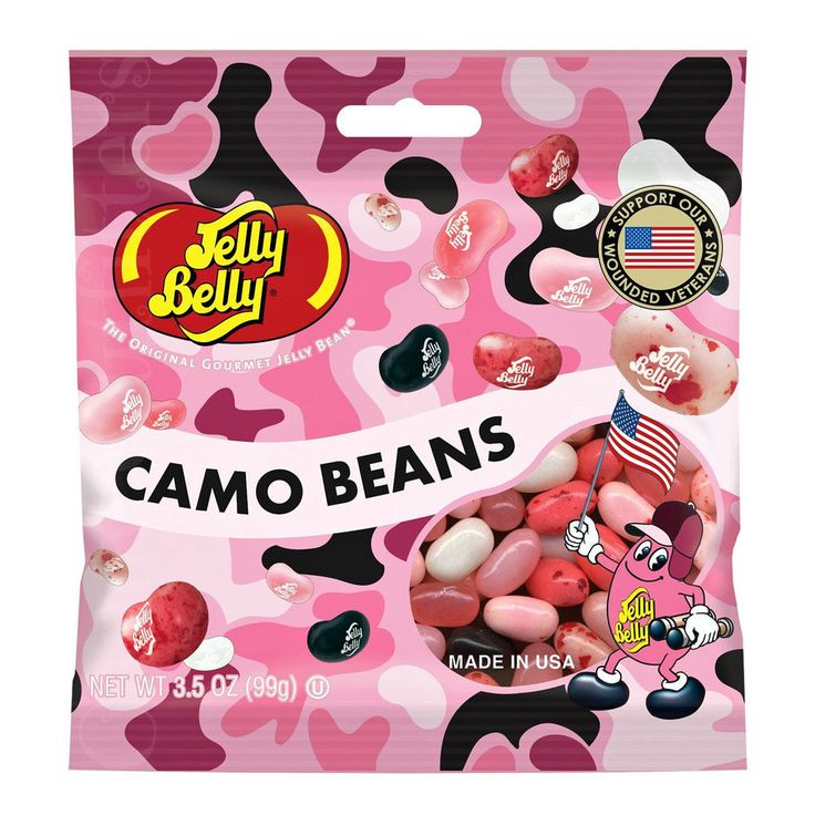 Jelly Belly Candy - Pink Camo Beans - Gourmet Jelly Bean Candies - 3.5oz bag