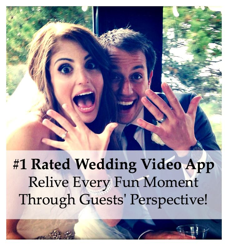 Use the WeddingMix app to turn all your guests' photos and videos into a super fun, professionally edited affordable wedding video!