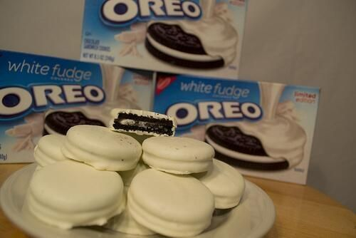 White Fudge Oreos