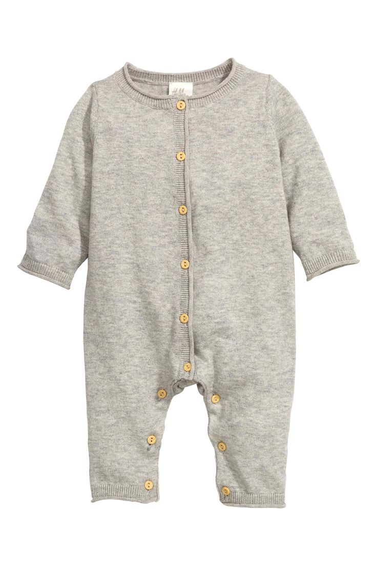 Knitted romper suit, H&M