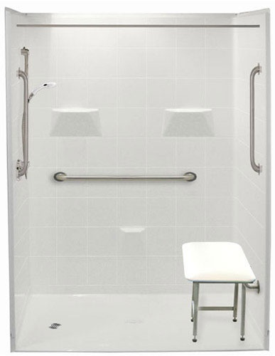 freedom accessible showers barrier free showers handicap shower stalls for your home