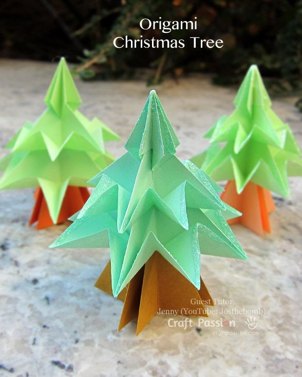 origami xmas tree instructions