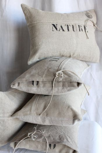 Linen pillows... Simple and beautiful