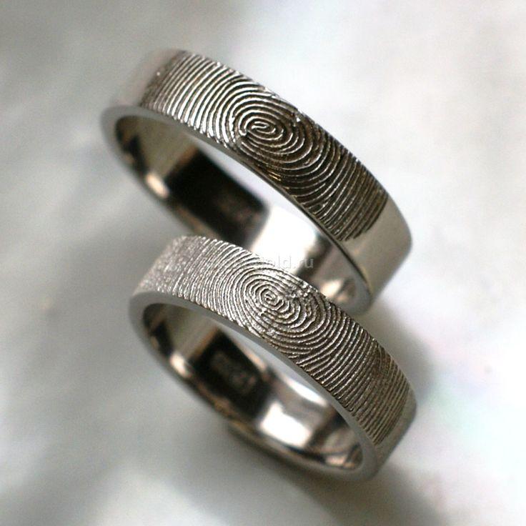 Обручальные кольца с отпечатками пальцев