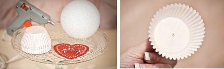 DIY Pompones hechos con blondas de magdalenas