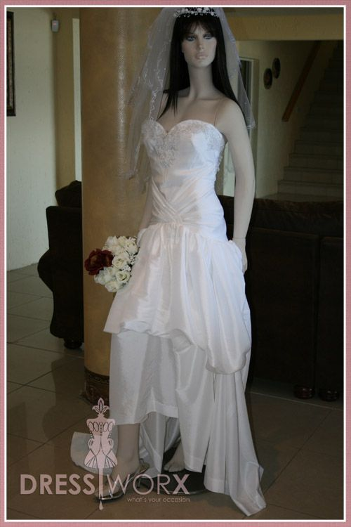 Silk White Wedding Dress - Designed and sewn by Verne Smit