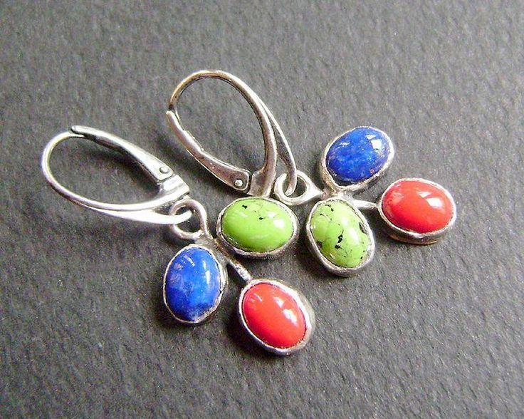 kolczyki - Tricolor w artkatalina -  biżuteria artystyczna na DaWanda.com