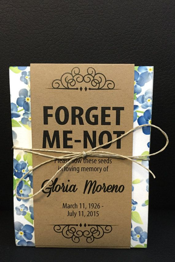 Share the love in remembering loved ones who have passed with these personalized memorial forget-me-not seed packets. Each individual seed packet