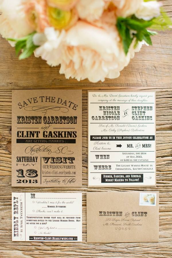 diy wedding invites south africa%0A kraft save the date