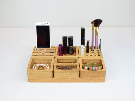 Large Beauty Station Jewelry Storage Makeup Brush by BeamDesigns