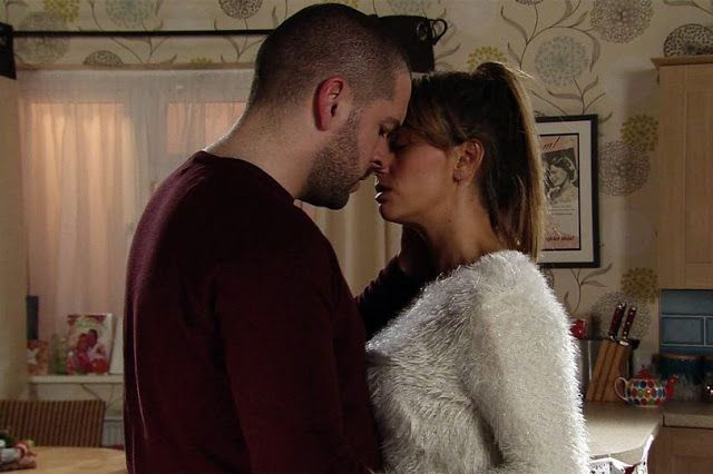 'Coronation Street' (New!) Spoilers: Robert suspends Steph Britton Andy is consumed with guilt   Underworld boss Aidan played by Shayne Ward goes back to her flat gazes into Marias eyes and tells her that hes in love with her.  But will Maria played by Samia Longchambon tell him that she feels the same way? And will Aidan dump Eva for his new love?  Meanwhile having discovered the burglary at the Bistro Robert Preston played by Tristan Gemmill suspends Steph Britton played by Tisha Merry…