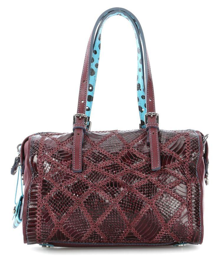wardow.com - #gabs, Claudia LUX Handtasche Leder rot 29 cm #bag #marsala #red #wardow
