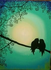 Love Bird - Custom Canvas Painting (wonder if I could paint this)